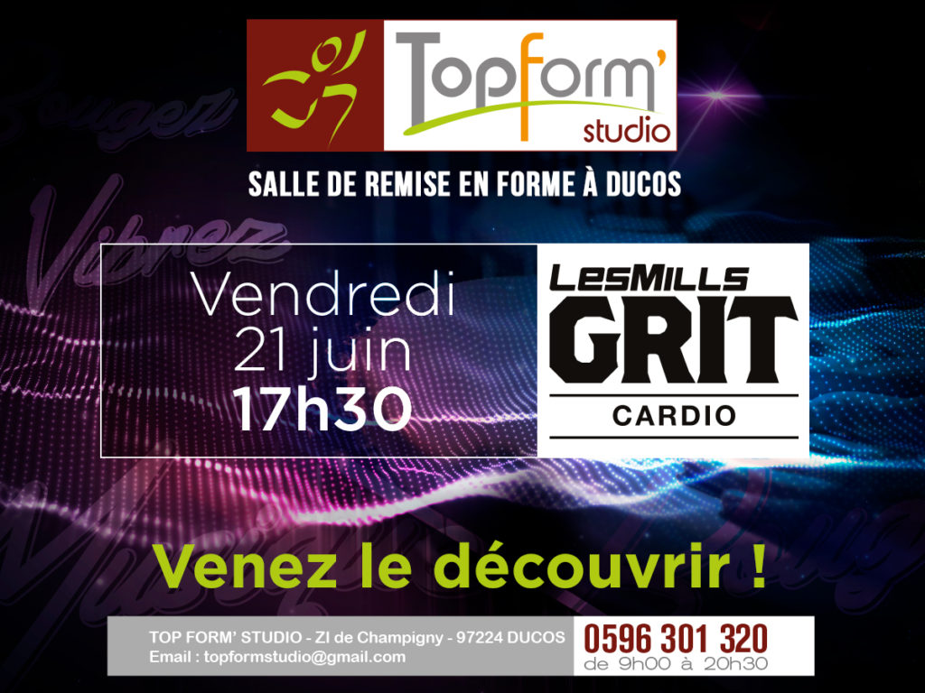 Vendredi 21 Juin 17h30 - Les Mills Grit Cardio